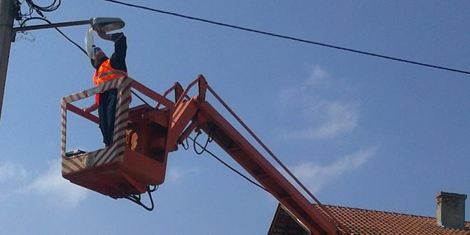 Izgradnja javne rasvete u Karađorđevoj ulici u Osečini