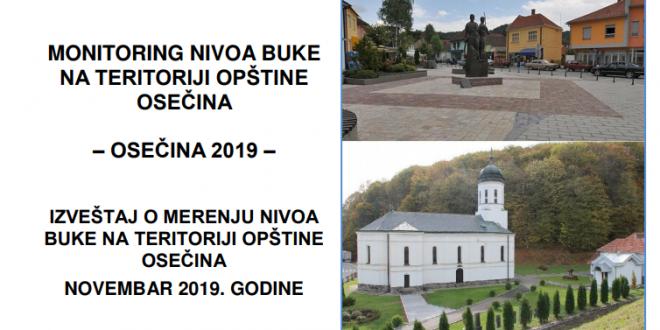 Monitoring buke u varošici Osečina, novembar 2019.